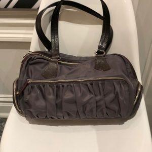 MZ Wallace Frankie charcoal shoulder bag.